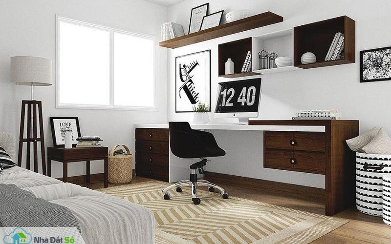 phòng làm việc trong phòng ngủ