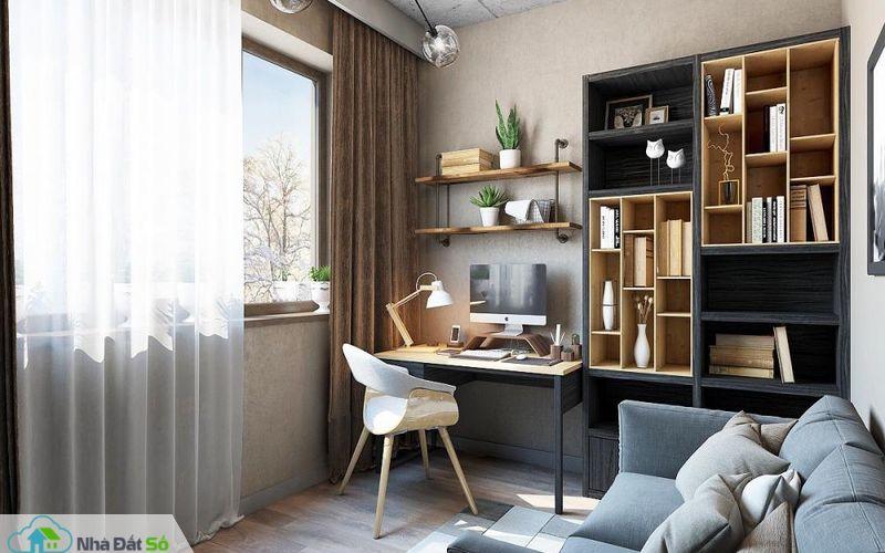 phòng làm việc trong căn hộ nhỏ