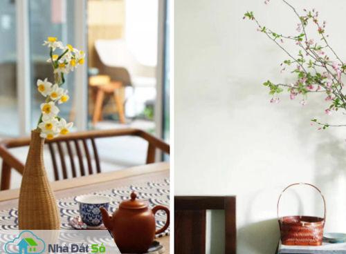 Huan trang trí cho ngôi nhà của mình bằng những món đồ nhỏ xinh cô mua được khi đi du lịch hay những nguyên vật liệu ở chính quê mình.