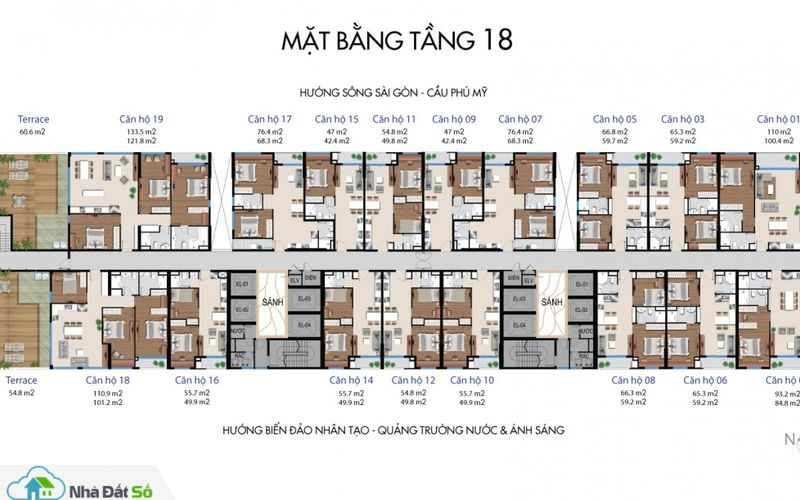 mat bang can ho river city quan 7 tang 18