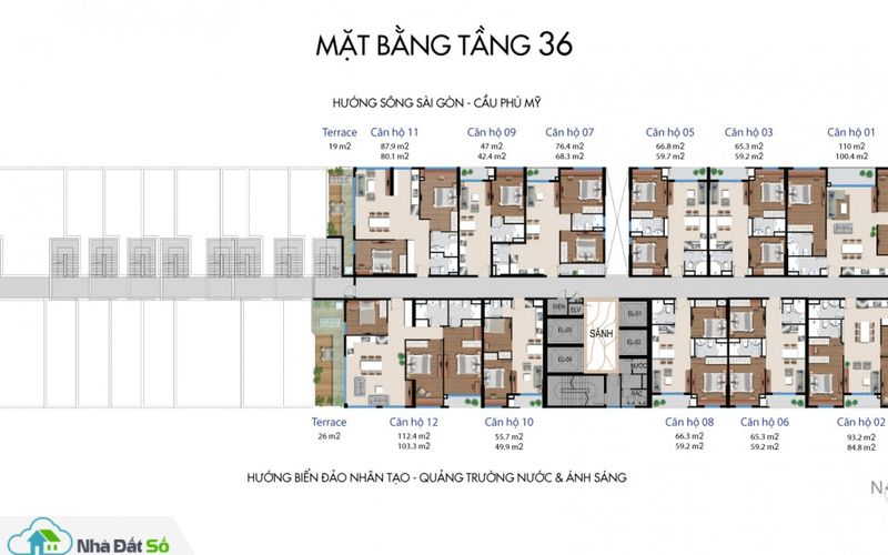 mat bang can ho river city quan 7 tang 36